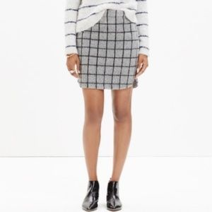 Madewell shirttail grid skirt